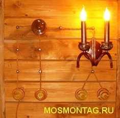 декоротивная электропроводка в деревянном доме