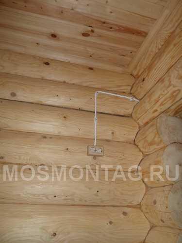 Монтаж кабель канала в деревянном доме