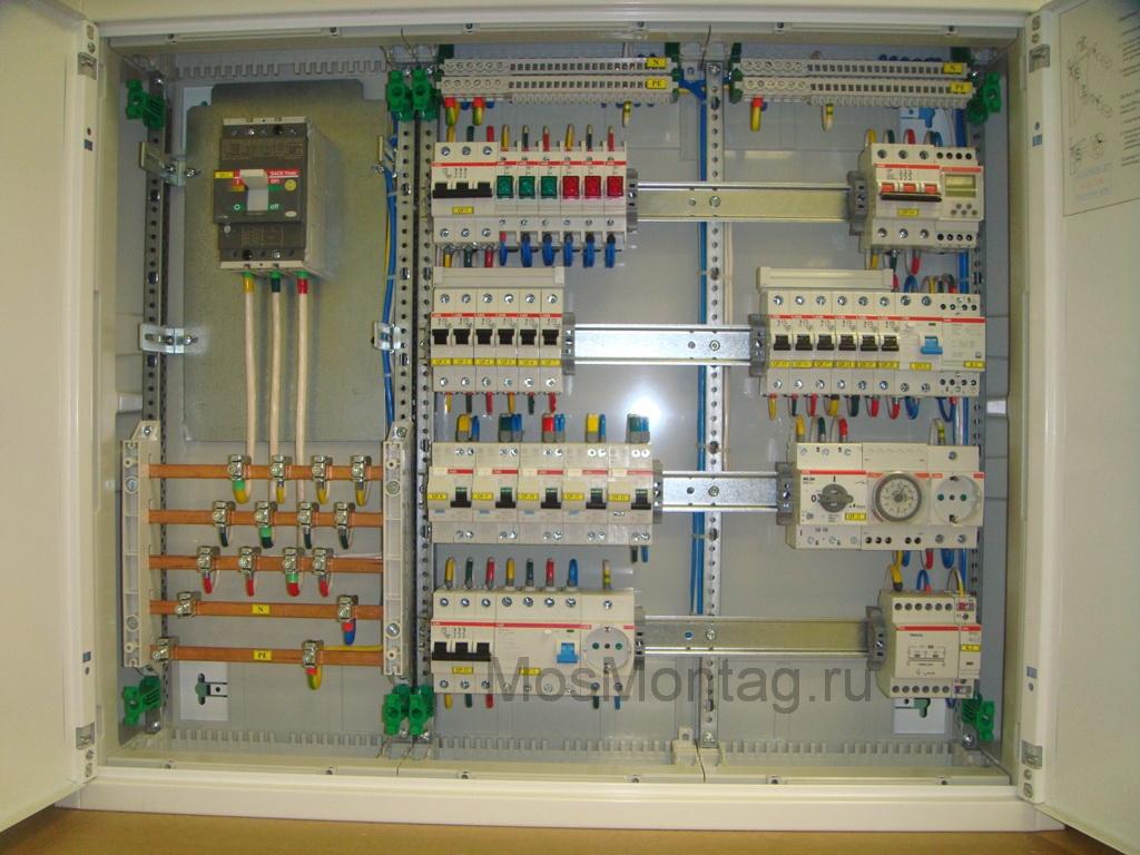 схема электропроводки с тремя фазами