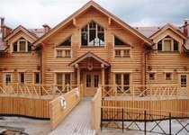 инженерные волокуша на деревянном доме